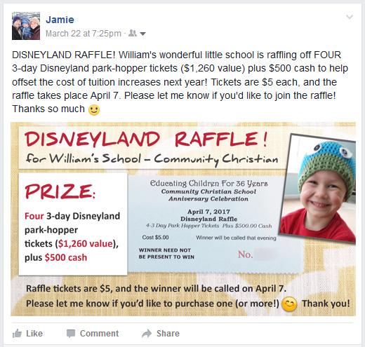 disneyland raffle ticket template for social media community